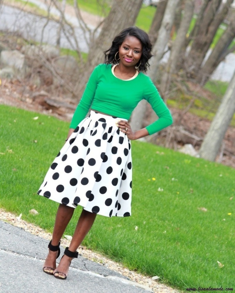 what-to-wear-with-a-polka-dot-skirt