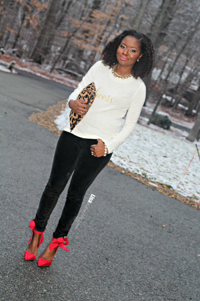 Black Whitered Fashion Outfit Linkup Party