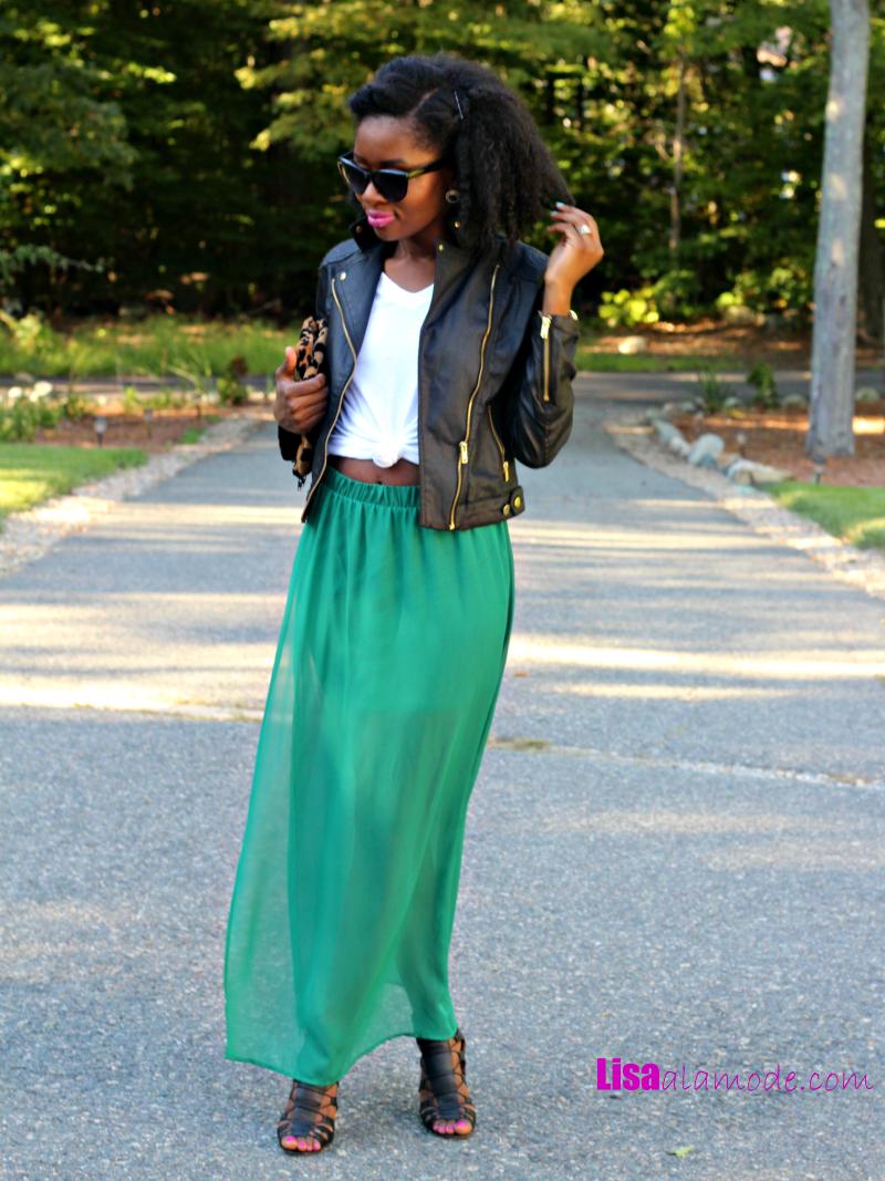fall maxi skirt fashion a la mode link up a