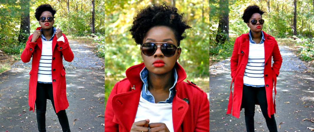 What to Wear with a Red Coat - Lisa a la mode
