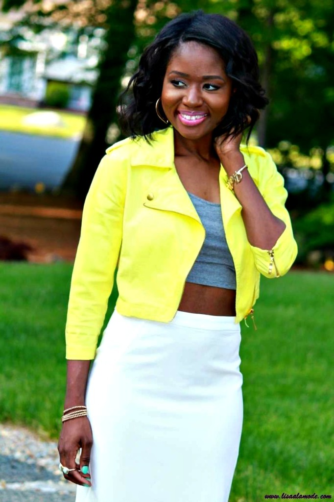 What To Wear With A Yellow Jacket Summer Outfit Of The Day U0026 Link Up Party - Lisa A La Mode